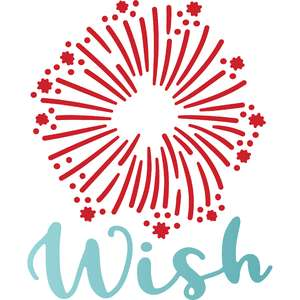 wish and firework