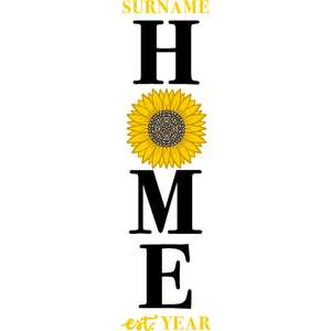 home sunflower porch sign