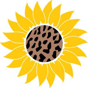 leopard print sunflower