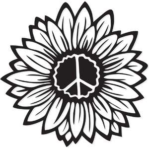 sunflower peace symbol