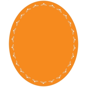 12 inch oval doily background
