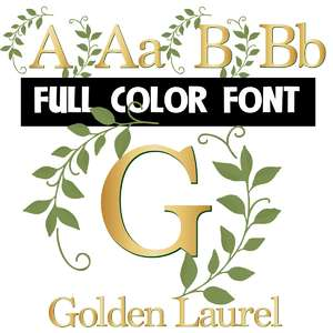 golden laurel color font