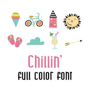 DB chillin' full color font