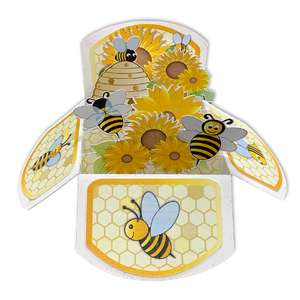 5x7 bee popup card in a box