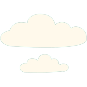 set of 2 clouds