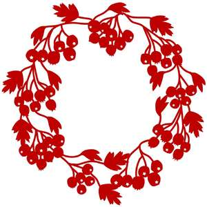 hawthorn berry wreath