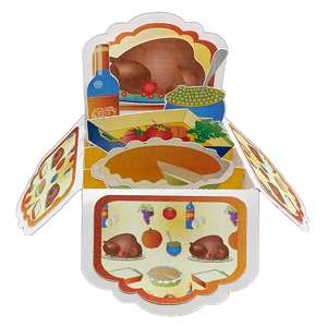 turkey day pop up card in a box