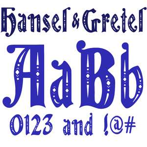 hansel and gretel font