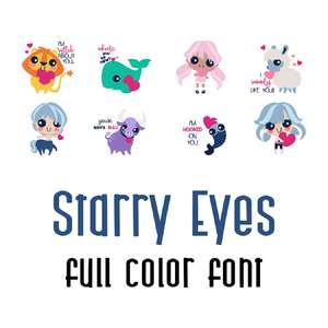 starry eyes full color font