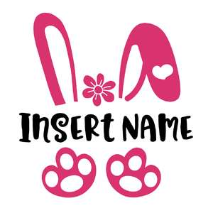 easter bunny name frame