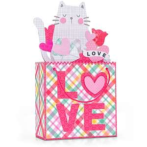 box card shopping bag valentine cat