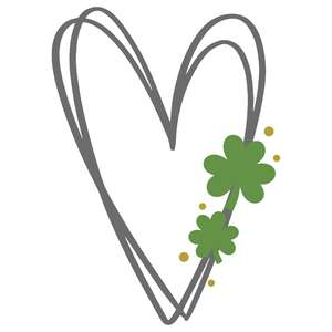 heart with clovers