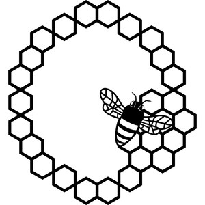 honey bee circle frame