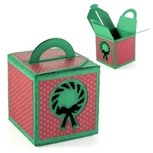 3d handled box - wreath