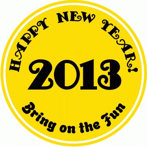 2013 new year button