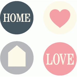 set of 4 home icons