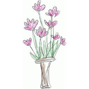 flower pot sketch