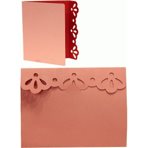 card a2 eyelet scalloped edge