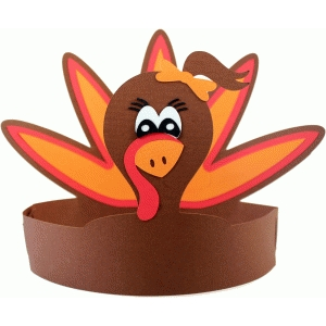 3d turkey crown girl