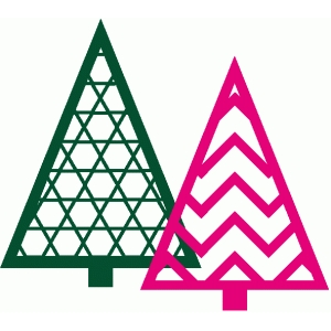 chevron and hexagon xmas trees