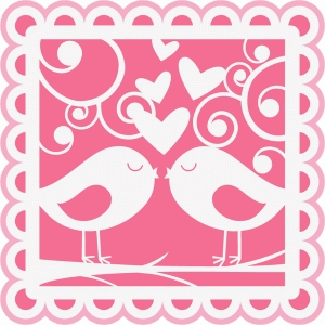 birds in love overlay