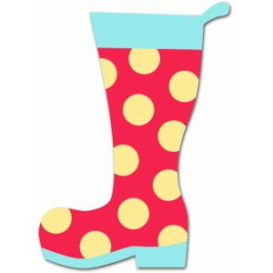 polka dotted rain boot