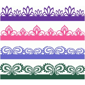 paisley sketches borders set