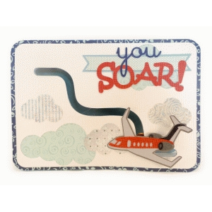 airplane you soar! penny slider 5x7 card