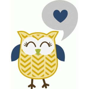 chevron pattern owl