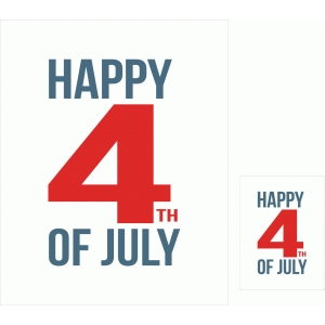 happy 4th of july print and cut quote card