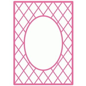lattice background / card frame