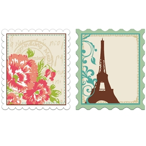 print & cut parisian stamps #2