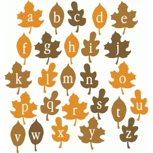 fall leaf alphabet - lowercase