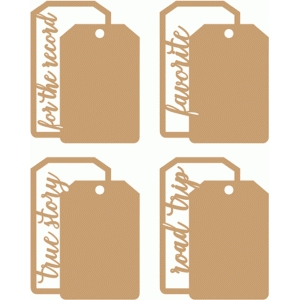 double tag journalling cards