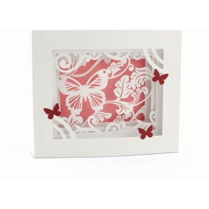 5x7 butterfly shadow box card