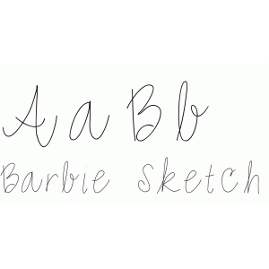 barbie sketch font