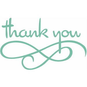 thank you with flourish