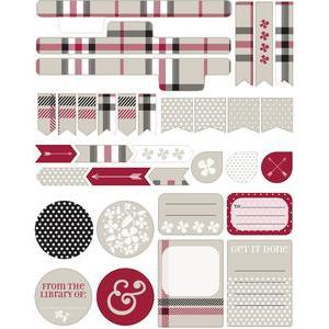 designer plaid sticker set