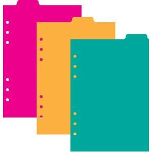 a5 6 ring planner 3 top tab dividers