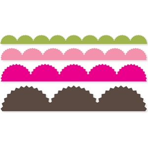 large pinking scallop border