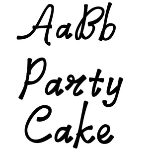 party cake font