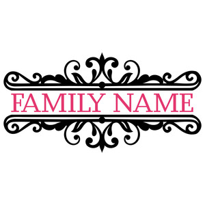 pretty family monogram split
