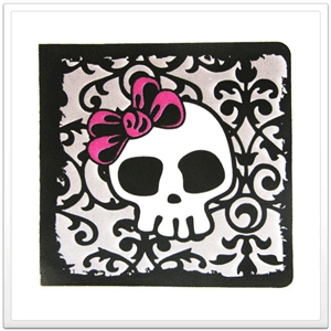 halloween party invitation - skull girl