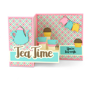 pop up box card teapot