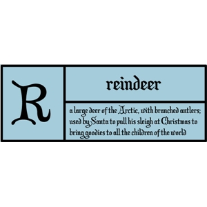 r is for reindeer pc