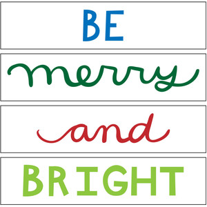 be merry and bright mini lightbox phrase