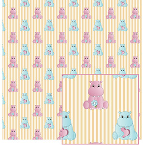 hippos and stripes pattern
