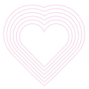 stitched hearts template