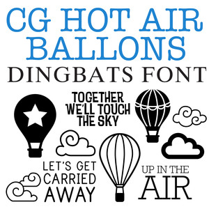 cg hot air balloon dingbats