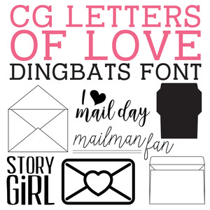 cg letters of love dingbats